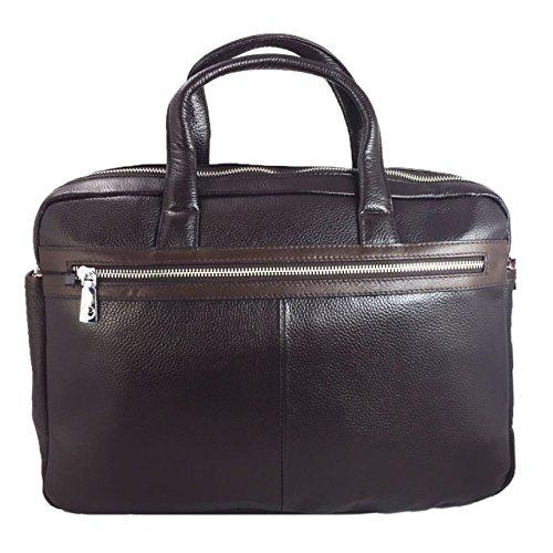 Luxus Premium Laptoptasche für Lenovo Miix 310 2in1 Businesstasche / Aktentasche / Notebooktasche mit Schultergurt aus echtem Leder - LB Dark Braun 1
