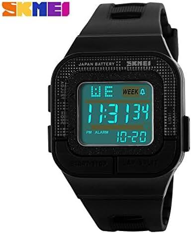 Girl's Electronic Digital Waterproof Sports Wrist Watch For Student Black