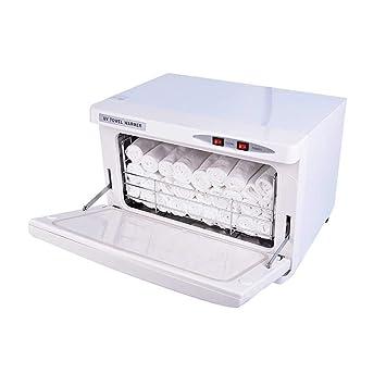 2 EN 1 30L Calor Toalla Calentador Ozono Toalla Esterilizador Gabinete con UV Esterilizante Facial Piel Cuidado SPA Belleza Salón Desinfectante Equipo, ...