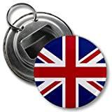 ENGLAND UK UNION JACK World Flag 2.25 inch Button Style Bottle Opener with Key Ring Review