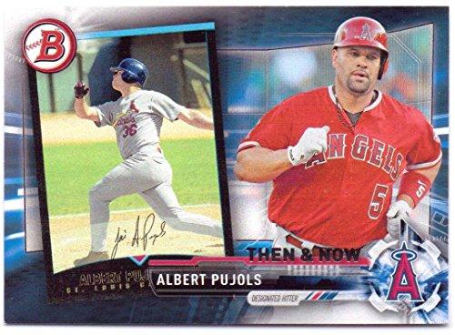 (Albert Pujols 2017 Topps Bowman Then & Now #Bowman-10 - California Angels)