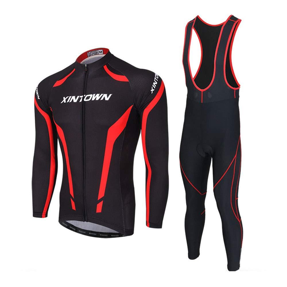 Jersey-Langang-Anzug, Langer Ärmelgurtanzug männlich,  Herren Cycling Clothing