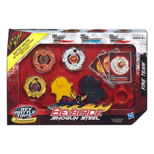 Beyblade Shogun Steel Battle Tops Fire Team Set