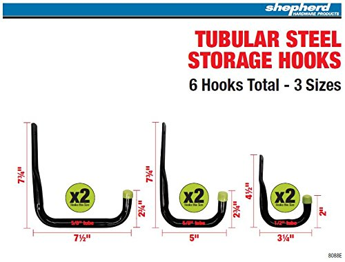 shepherd-hardware-8088e-heavy-duty-steel-garage-storage-utility-hooks-6-pack