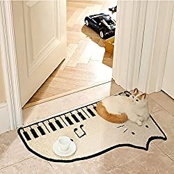 SANNIX Soft Indoor Cat Piano Area Rugs Oval Fluffy Living Room Shag Carpets for Home Decor