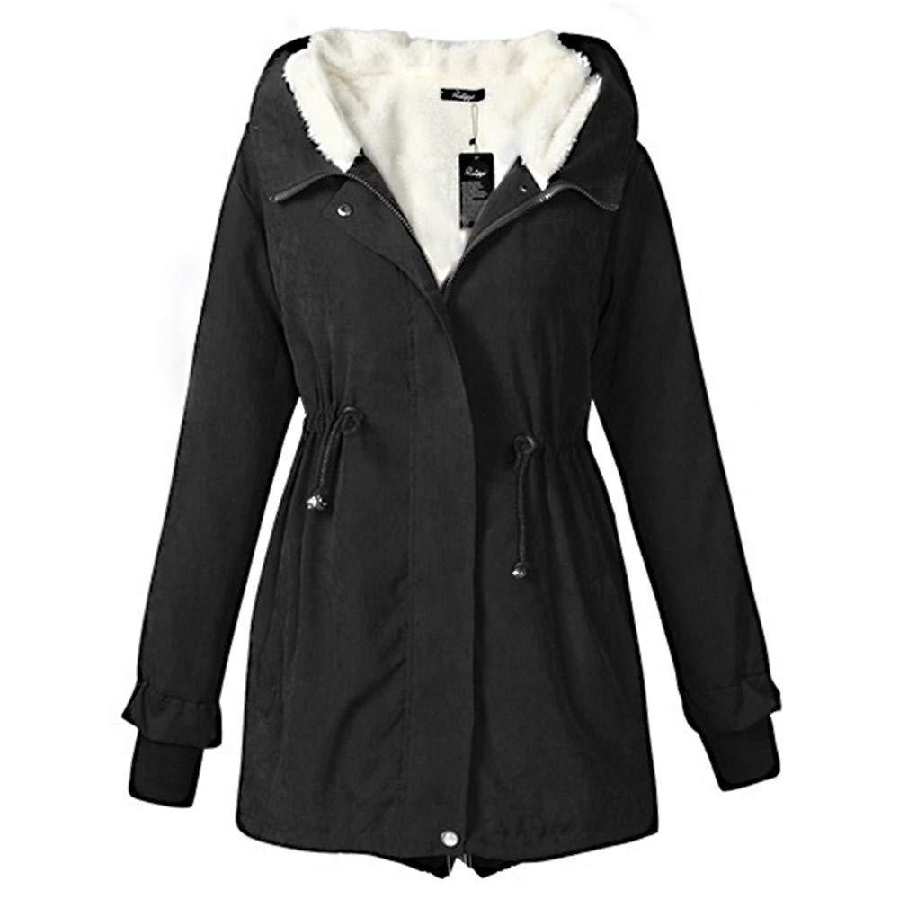 Ladies Women Hooded Parka Fleece Top Coat Winter Warm Women Long Jacket Coat Chaqueta Mujer Abrigo M at Amazon Womens Coats Shop