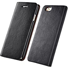 Leather Wallet Case With Credit Card Holder Protective Folio Flip Slim Cover for iPhone X/8/7/6s/6 Plus