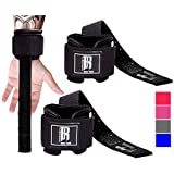 RIMSports Weight Lifting Straps with Wrist Support Straps for Weightlifting Superior Deadlift Straps and Workout Wrist Wraps for Deadlifting in Gym Ideal Lift Straps for Powerlifting (Black) (Color: Black)