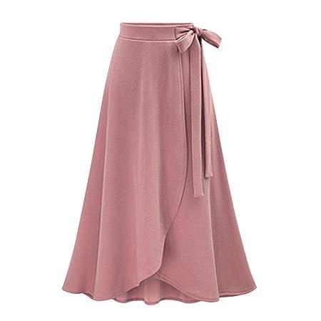 Zxllyntop-Dresses Falda Casual para Mujer Moda Mujer Bow-Knot ...