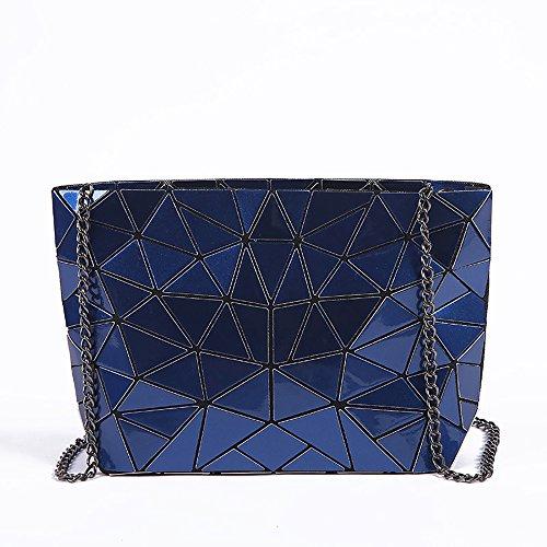 de WDBB × Bandolera Azul Moda 17 Lingge Casual azul cm Multifuncional Bolso Bolso Bandolera 28 cm pxxYw4Rq