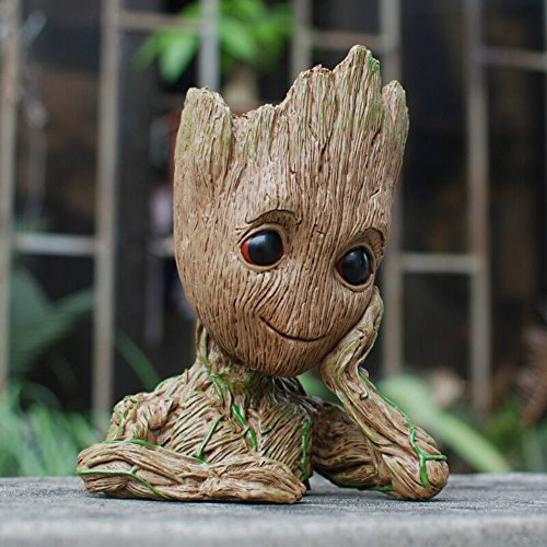 Fashion Guardians of The Galaxy Flowerpot Baby Groot Action Figures Cute Model Toy Pen Pot Best Christmas Gifts For Kids Photo #6