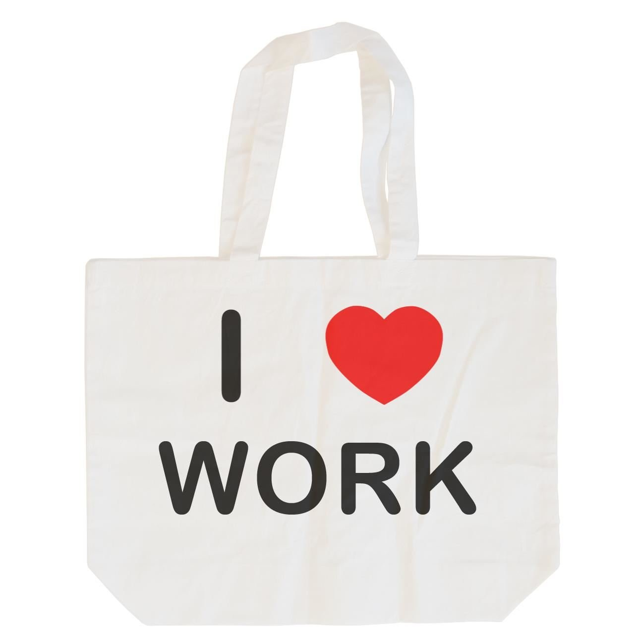 I love Work Cotton Maxi Shopping Bag