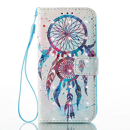 - Galaxy S7 Wallet Case, JanCalm [Wrist Strap] [Kickstand] [3D Painted] [Card/Cash Slots] Pattern Premium PU Leather Wallet Magnetic Flip Folio Cover for Samsung Galaxy S 7 + Crystal pen (Dream Catcher)
