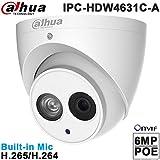 Dahua HDW4631C-A 2.8mm 6MP IR Eyeball Network Camera POE IP67 Night Version Outdoor ONVIF H.265 Dome IP Camera International Version