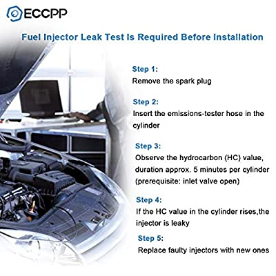 ECCPP Fuel Injectors, 6pcs High Performance 4 Holes Fuel Injector Kit 0280150415 fit for 1987-1993 BMW 325i 1987 1989-1991 BMW 325is 1988-1991 BMW 325iX 1989-1990 BMW 525i: Automotive