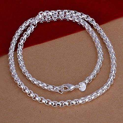 Men's jewelry 6mm 20'' 50cm 925 sterling silver necklace cool chain n053