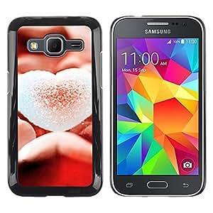 Exotic-Star ( Love Sugary Heart ) Fundas Cover Cubre Hard Case Cover para Samsung Galaxy Core Prime / SM-G360