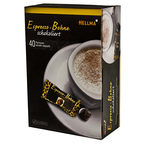 Hellma Espresso Beans Chocolate-Coffee Bean in Chocolate Box / Pack of 40