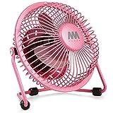 Mini Fan, Mumba 4-Inch High Velocity Desktop Fan, USB Powered, Super Mute, 360 Degree Free Angle Rotatable Laptop Fan, Small Mental Cooling Fan (Pink)