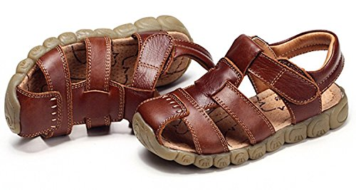 Zicoope Summer Outdoor Athletic Flat Sandals for Boys (Toddler/Little Kid) Brown 10 M by Zicoope (Image #1)