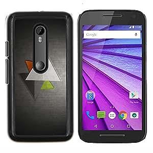 YiPhone /// Prima de resorte delgada de la cubierta del caso de Shell Armor - Triángulo geométrico Arte Verde Rojo Moderno - Motorola MOTO G3 / Moto G (3nd Generation)