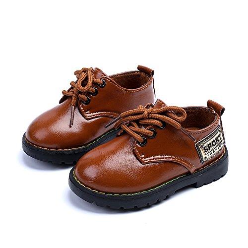 COMFY KIDS Toddler Boys Big Head of Shoes Casual Shoes Flat Uniform Pure Color Dress Shoe(Toddler/Little Kids)