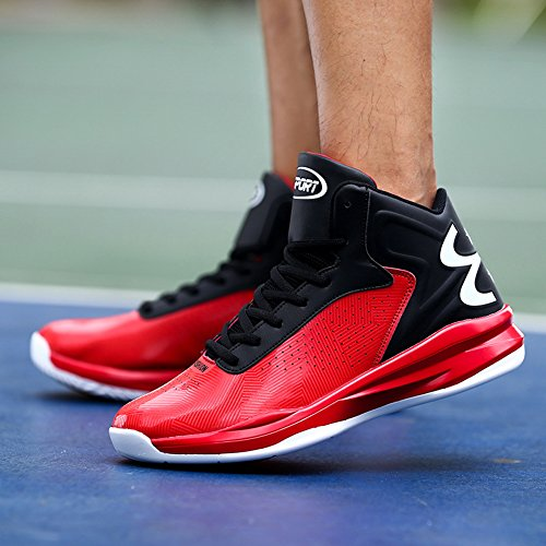 Performance de Gomnear Mode Hommes Basket Sneakers Rouge Respirant de Outdoor Chaussures Ball aFYFC