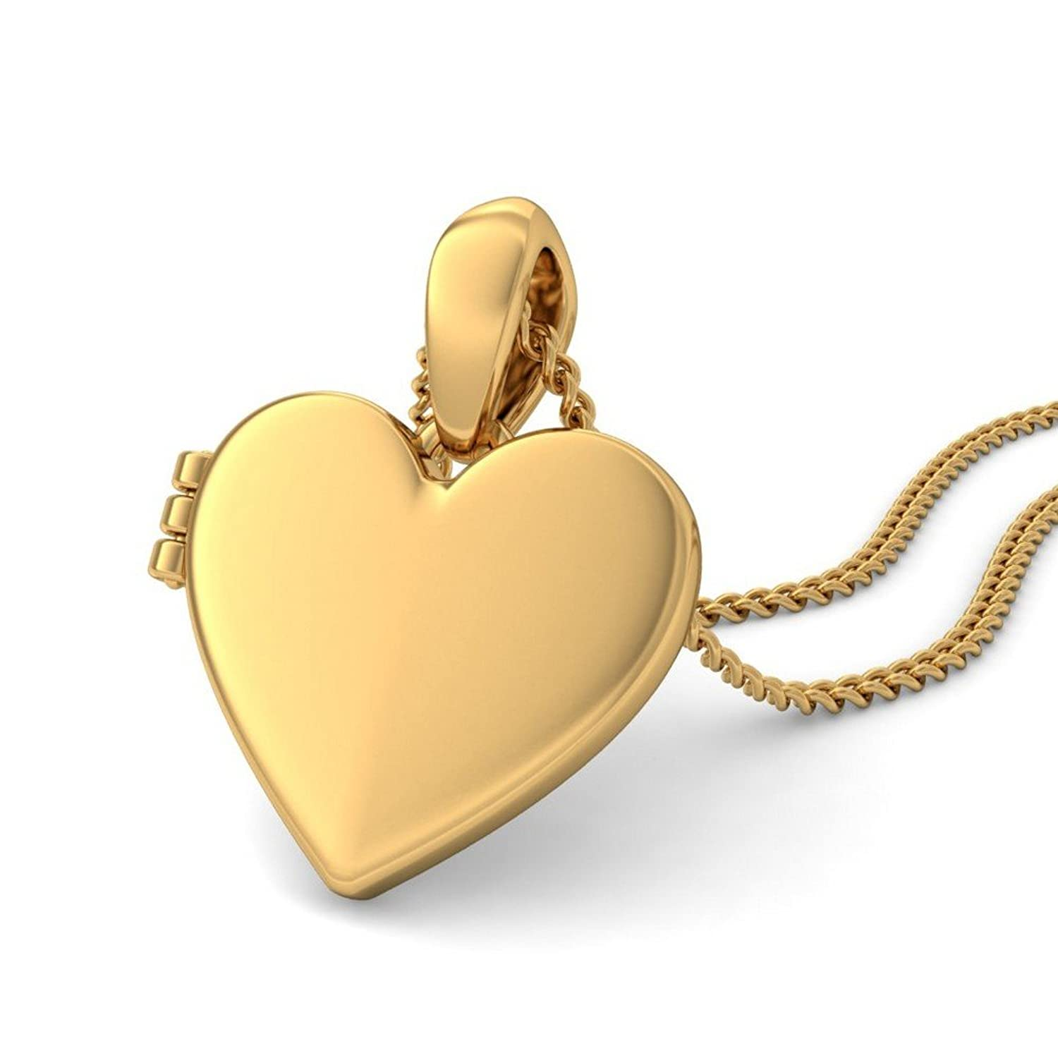 necklace locket low heart pendant dzinetrendz product embossed chain for plated in prices pink women jewellery gold men brass love drussy foil thumb buy openable india at