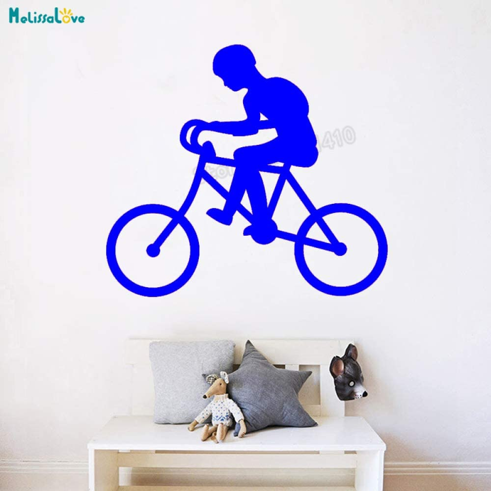 yaoxingfu Vinilo Adhesivo de Pared Niño en Bicicleta Murales de ...