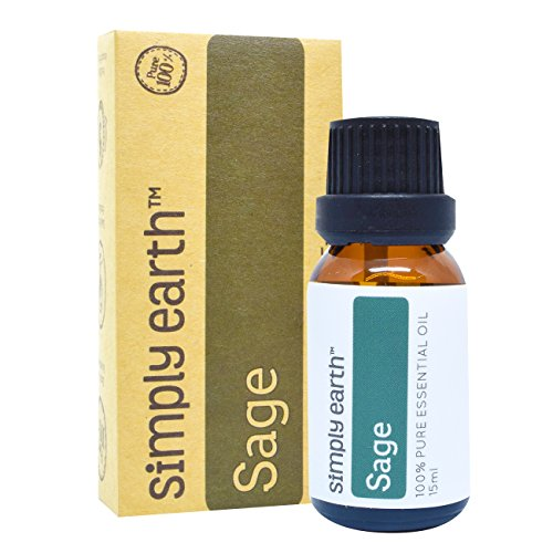 Sage Essential Oil by Simply Earth - 15 ml, 100% Pure Therapeutic Grade