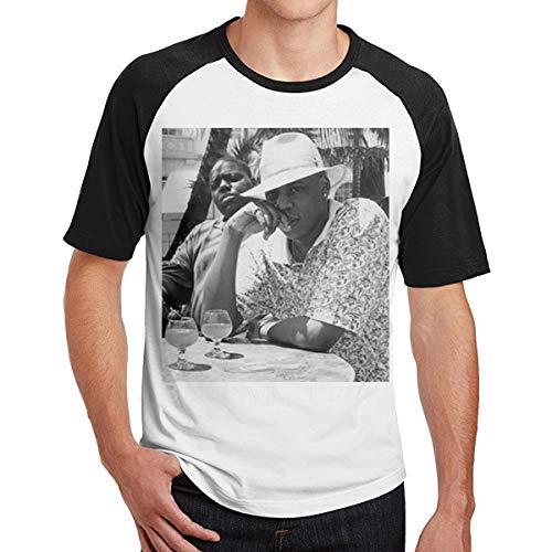 Kangtians Archie Men's Jay-Z & Biggie Brooklyn's Finest Cool Short Sleeve Baseball T-Shirts Black