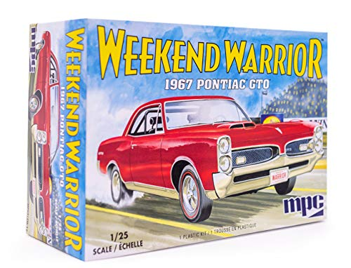 MPC 1967 Pontiac GTO Weekend Warrior - 1/25 Scale Model Kit - Buildable Vintage Vehicles for Kids and Adults from MPC
