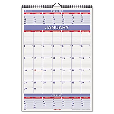amazon com at a glance recycled three month calendar 15 1 2 x