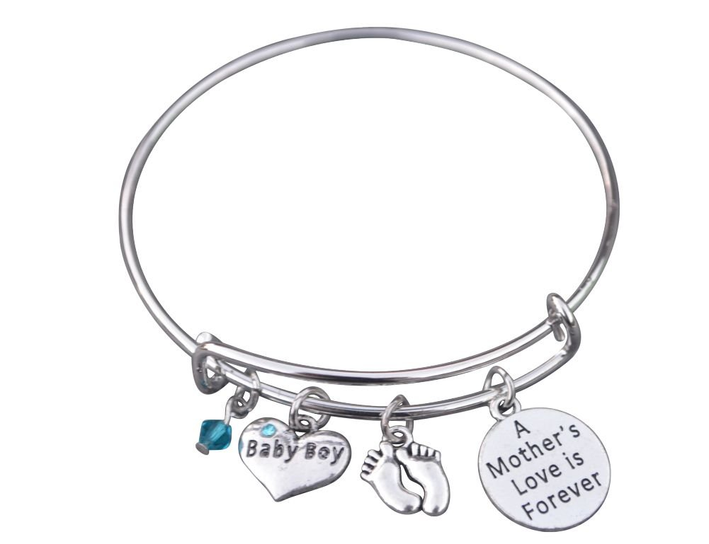 Infinity Collection Mom Bracelet, Mom Son Charm Bracelet Makes The Perfect New Mom Gift, or Baby Gift by Infinity Collection