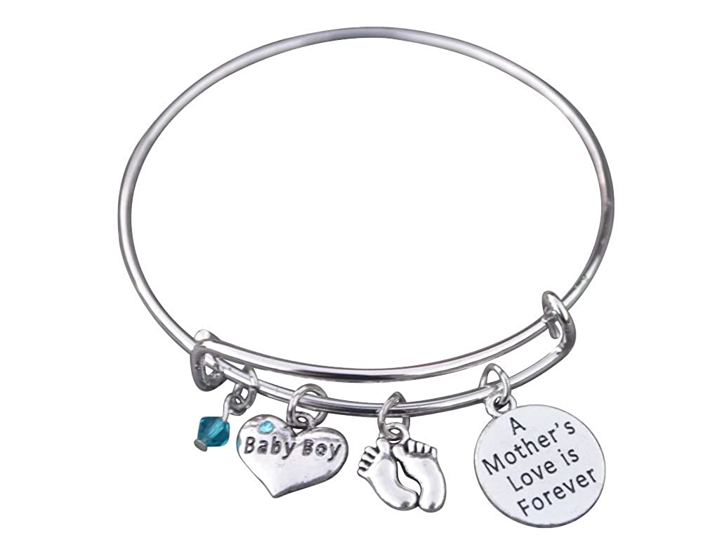 1032ad927 Amazon.com: Infinity Collection Mom Bracelet, Mom Son Charm Bracelet Makes  The Perfect New Mom Gift, or Baby Gift: Jewelry