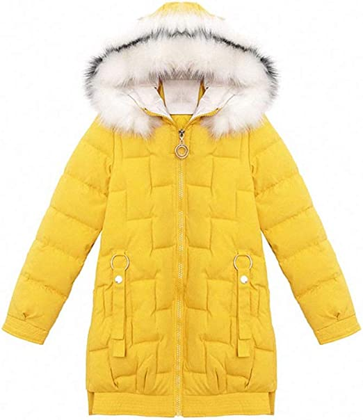 Ladies Yellow Parka Coat