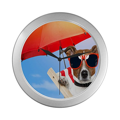 Cool Dog Wind-sailing Novelty Wall Clock