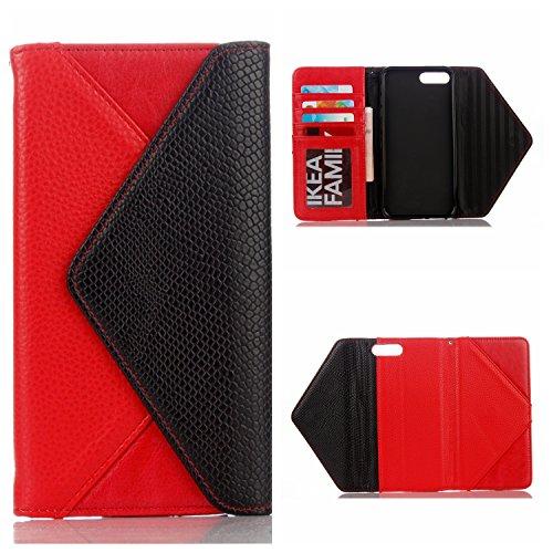 Voguecase® Pour Apple iPhone 7 Plus 5,5 Coque, Étui portefeuille en cuir PU Enveloppe Sac à main Coque portefeuille à rabat étui à rabat avec emplacements pour cartes pour iPhone 7 Plus 5,5 (Enveloppe