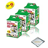 Fujifilm INSTAX Mini Instant Film 10 Pack 100 SHEETS (White) For Fujifilm Mini 8 Cameras ...