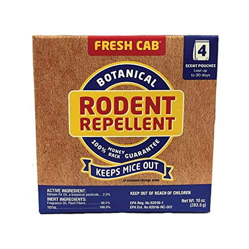 Fresh Cab Rodent Repellent; Quickly Repelling Pests from Treated Areas; Preventing Re-Infestation for up To 3 Months; Safe for Children, Pets and the Environment; Non-Toxic; EPA Registered; 16-Scent Pouches