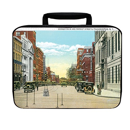 Market Streets, Poughkeepsie, Ny Insulated Lunch Box - Poughkeepsie Kids