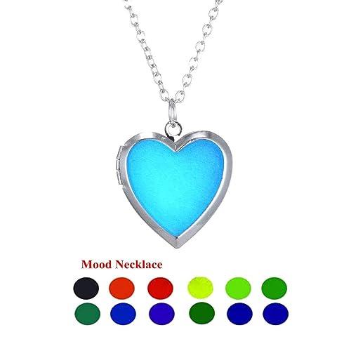 Amazon clipons fashion heart shaped color change mood pendant clipons fashion heart shaped color change mood pendant charm necklace emotion jewelry for women aloadofball Gallery