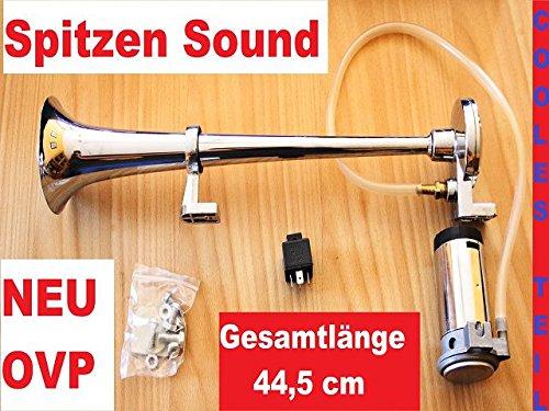 Signalhorn, Bootshorn, LKW-Horn vercromt SEHR LAUT 24 Volt: Amazon ...