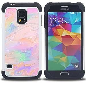 For Samsung Galaxy S5 I9600 G9009 G9008V - oil paint pink peach purple artist art Dual Layer caso de Shell HUELGA Impacto pata de cabra con im????genes gr????ficas Steam - Funny Shop -