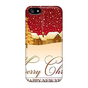 Bernardrmop Snap On Hard Case Cover New Year Wallpapers Christmas Town Protector For Iphone 5/5s