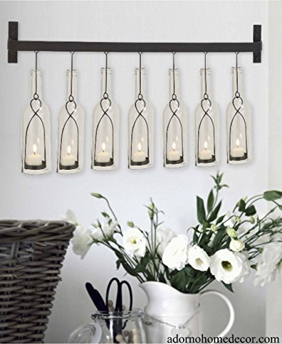 Modern Bottle Wall Sconce Chic Unique Candle Holder