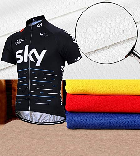 KJX5258 Mens Team Bicycle Cycling Polyester Short Sleeve Jersey bib Shorts Sport