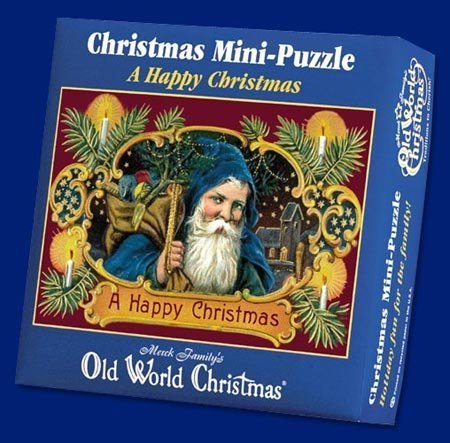 1999 Merck's Family Old World Christmas A Happy Christmas Mini-Puzzle - Over 100 pieces by Merck Family's ()