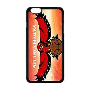 Atlanta Hawks NBA Black Phone Case for iPhone plus 6 Case