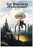 """Wall Calendar 2020 [12 pages 8""""x11""""] Fantastic Another World by Brothers Hildebrantd Vintage SciFi Comic Art"""